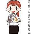 咖啡廳店員女人 44080378