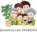 在沙發上的家庭團隊 44080944