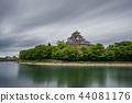 Okayama Castle and river in Japan, ultra long exposure 44081176