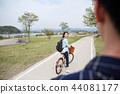 자전거, 커플, 한국인 44081177