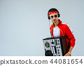 cheerful fashionable man wearing a red sports  44081654