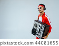 cheerful fashionable man wearing a red sports  44081655