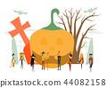 Minimal scene for halloween day, 31 October 44082158