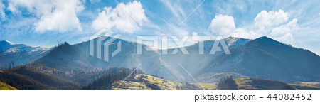 panoramic landscape of mountainous countryside 44082452
