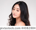 Young asian woman with clean skin of the face 44082884