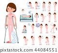 flat type patient young women_sickness 44084551