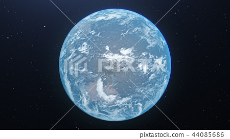 푸른 지구 perming3DCG 일러스트 소재 44085686