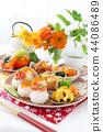 Rice ball breakfast 44086489