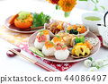Rice ball breakfast 44086497