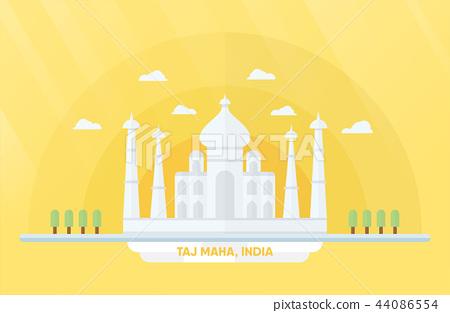 India landmarks for travelling with Taj mahal 44086554