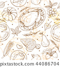 Thanksgiving Seamless Pattern 44086704