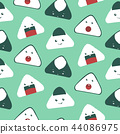 Cute Japanese food pattern background 44086975
