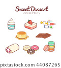 Hand drawn sweet desserts collection 44087265