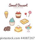 collection, dessert, drawn 44087267