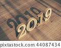 Wooden numbers 2019  44087434