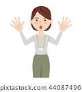 女商人休閒商務休閒工作人員 44087496