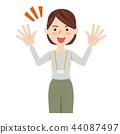女商人休閒商務休閒工作人員 44087497