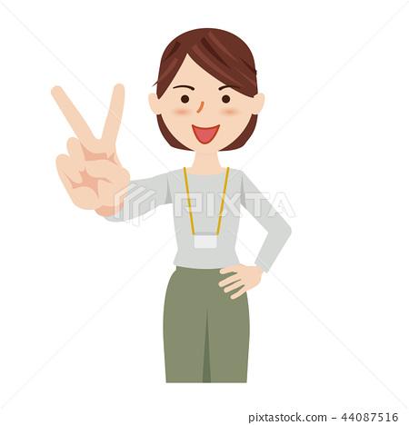 女商人休閒商務休閒工作人員 44087516