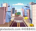 cartoon urban crossroad concept 44088401