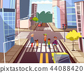 crosswalk, street, city 44088420