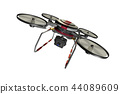 Drone (with camera · transparent material) 44089609