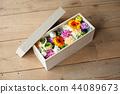 paulownia wood box, box, preserved flower 44089673