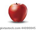 白色背景的紅色蘋果 44090045