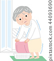 老人 成熟的女人 一個年輕成年女性 44093690