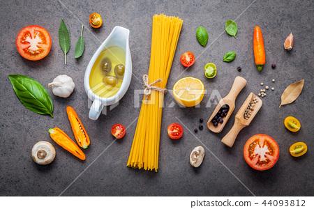 Italian food and menu concept . 44093812