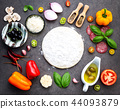 The ingredients for homemade pizza . 44093879