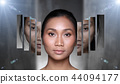 Asian Woman before after applying make up cosmetic 44094177