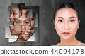 Asian Woman before after applying make up cosmetic 44094178