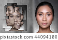 Asian Woman before after applying make up cosmetic 44094180