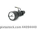 Black flashlight on white background. 44094440