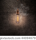 Vintage light bulb on dark background. 44094679