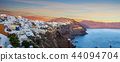 The famous sunrise at Santorini in Oia village 44094704