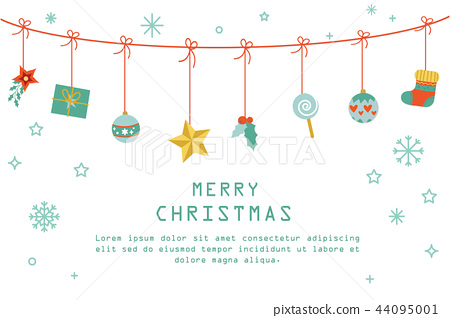 Merry Christmas background vector illustration 44095001