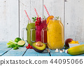 Healthy fresh smoothies with ingredients. 44095066