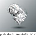 Vector 3D Illustration Geometric, Polygon pattern 44096612