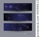 Abstract Molecules banners set 44096613