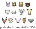 動物臉塗鴉風格 44096956