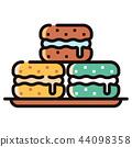 Macaron LineColor illustration 44098358