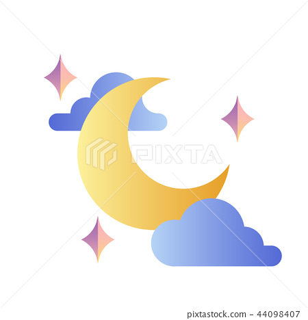 Moon gradient illustration 44098407