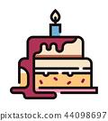 Birthday cake LineColor illustration 44098697