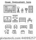 Furnitures , Home decorate items icon set 44099257