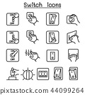 Switch icon set in thin line style 44099264