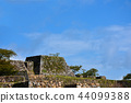 takeda castle ruins, the inner citadel, the main enclosure of a castle 44099388