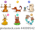 horoscope zodiac signs set with funny dogs 44099542
