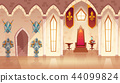 Vector castle throne hall, interior of royal ballroom 44099824