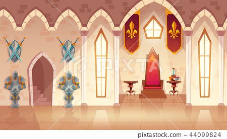 Vector castle throne hall, interior of royal ballroom 44099824